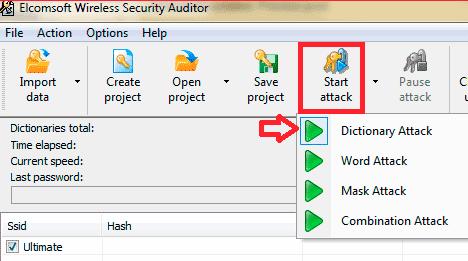 Скачать Elcomsoft Wireless Security Auditor и проанализировать пароли