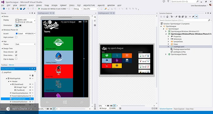 Select the XAP