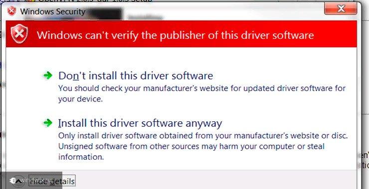Ошибка код 52 при установке драйвера в windows 7. Причины и варианты их устранения