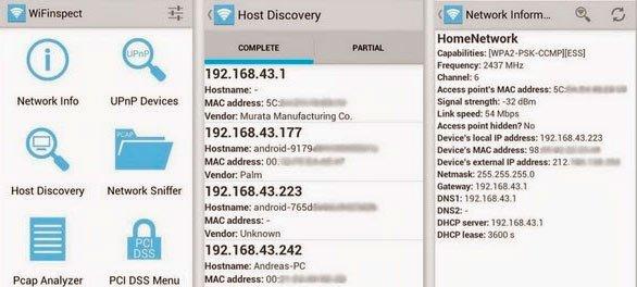 скачать WiFinspect для контроля над wifi сетями